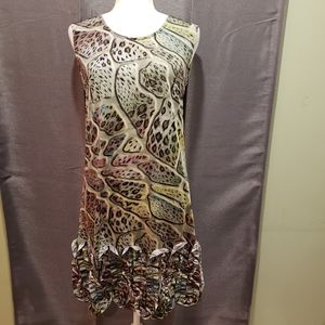 Uniquely patterned sleeveless dress
